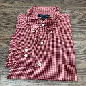 Brooks Brothers Red & White Check Plaid Shirt XL